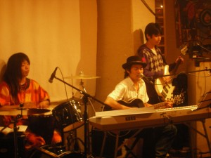 Taichi Kanon and his support band Bobuji and Honma were rocking the house that night!